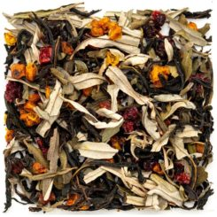 Чай осенний с брусникой
