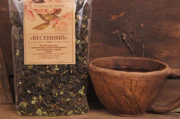 Чай весенний с вишней